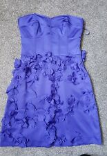 Ladies strapless occasion dress. Size 8 from coast. Purple.