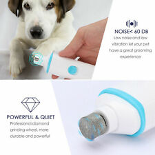 USB Rechargeable Pet Nail Grinder Electric Paw Trimmer Clipper Pro Grooming Tool