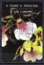 Fleurs - Orchidées St Thomas et prince (148) bloc oblitéré