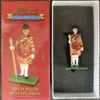 WM. BRITAINS COLLECTOR CLUB 40318 DRUM MAJOR IN STATE DRESS CLUB FIGURE no box