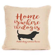 More details for gift for dog basset hound cushion unique personalised present for lover owner