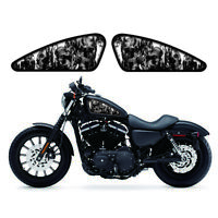 Black Skull Fuel Gas Tank Stickers Decals Set For Most Harley Motorcycle