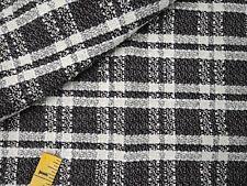 "Wool Tweed Coating Fabric Woven Black White Cream Ivory Gray 62""W 2.4y"