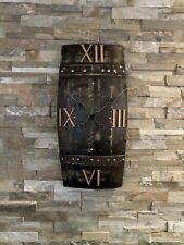 Clock - Large Clock - Wall Clock - Rustic Clock - Scotch Whisky Barrel