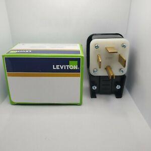 Leviton 9462-P 60 Amp 125/250 Volt Straight Blade Plug Industrial Grade