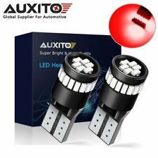 2x AUXITO CANBUS T10 2825 168 194 W5W RED LED License Plate Dome Light Bulbs