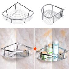 Durable Shower Rack Stainless Steel Bathroom Corner Wall Shelf Unit Organizer UK