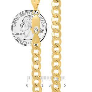 "14K Yellow Gold 2mm-7.5mm Curb Cuban Chain Link Pendant Necklace Bracelet 7""-30"""
