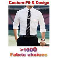 Mens Dress Shirts,Custom Made White Men dress Shirt,Plaid Stripe Men dress shirt