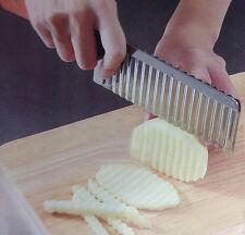 Stainless Vegetable Carrot Crinkle Wavy Potato Chip Dough Cutter Blade Slicer