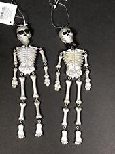 Halloween Decorations Inside Use Skeleton Ornaments 2 Piece Set Lightweight NEW