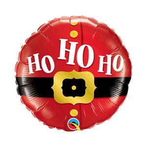 23CM MINI CHRISTMAS SANTA'S BELT HO HO HO FOIL BALLOON PARTY DECORATION BELLY