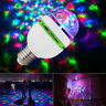 3W E27 RGB Crystal Ball Auto Rotating LED Stage Light Bulb Disco Party Bulb Lamp