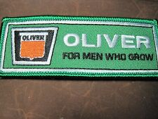 """OLIVER FARM TRACTOR PATCH OLIVER """"FOR MEN WHO GROW""""  TRACTOR LOOK AND BUY NOW*"""