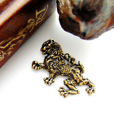 ANTIQUE BRASS Rampant Dragon LION Stamping ~ Griffin Oxidized Finding (FB-6055)