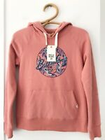 "BILLABONG Size 12 Teen Girls Dusty Rose ""Gypsy Pop Hood"" Pullover Hooded Jumper"