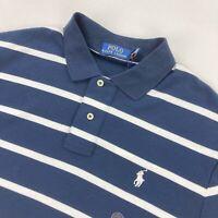 NEW Polo Ralph Lauren Men's Current Polo Shirt Navy Blue/White Striped • Medium