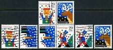 US #2791-2794 Christmas Stamps SeTenant Block AND Singles COMPLETE Set  (used)
