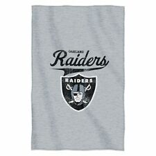 "Oakland Raiders 54""x84"" Sweatshirt Blanket - Script Design [NEW] NFLThrow"