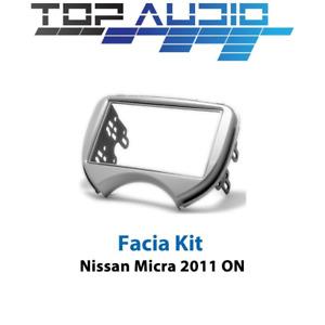 fit Nissan Micra K13 radio Double 2 Din fascia dash panel facia trim plate