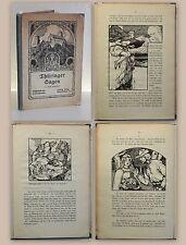 Lehmensick Thüringer Sagen Bilder von Liebermann 1912 Landeskunde Märchen xz