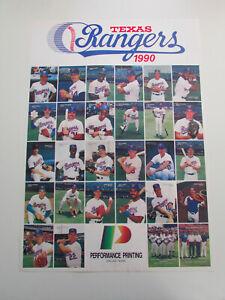 "Vintage 1990 Texas Rangers Nolan Ryan Trading Cards Checklist Poster 17"" x 24"""