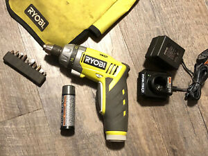 Ryobi Tek 4 HP53L 4.0V 1/4 in. Electric Screwdriver w/ Charger & 2 Batteries