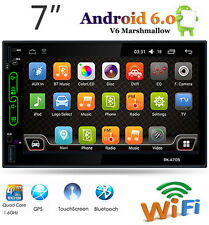 7'' Android 6.0 WiFi 2DIN Car Radio Stereo Bluetooth MP5 Player GPS AM/FM/RDS