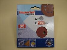 Sanding discs hook&loop random orbit sander 125mm pack 6, 60 grit,European made