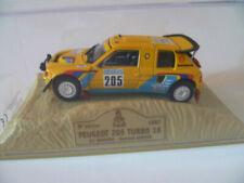 Véhicules miniatures multicolores Peugeot 1:43