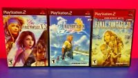 3 Game Lot PS2 PlayStation 2 - Final Fantasy X, X-2, & XII - All Complete