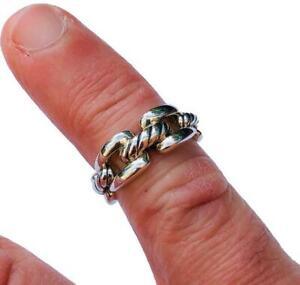 David Yurman Wellesley Ring 8mm Wide Sterling Silver Sz 5 New