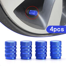 4* Blue Car Wheel Tyre Tire Rim Air Stem Valve Caps Dust Cover Universal