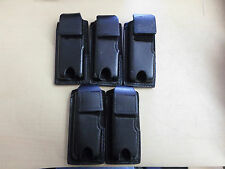 """Lot of (5) Puma 3 Qkp Leather Holders For Digital Recorders 1.5x4"""" Police Issued"""