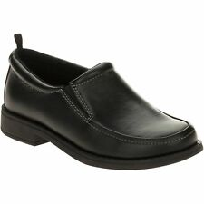 GEORGE Boy's Faux Leather Slip On Oxford Dress Shoes - BLACK - 13