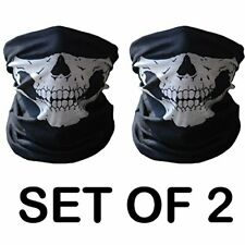 2Pc Ghost Biker Skull Face Mask Motorcycle Ski Balaclava Hood Cs Sport Helmet