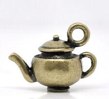 4 Pc Antique Bronze Teapot Charm Pendants 18x13mm LC2817