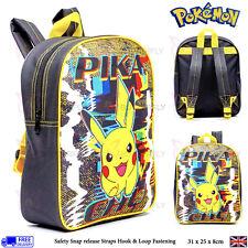 BNWT Kids Pokemon Pikachu Distortion Design Childrens Backpack Kids School Bag