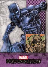2012 MARVEL BEGINNINGS II 2 ERROR MISCUT CARD #257 BLACK PANTHER