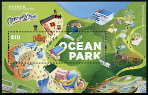 Hong Kong Cultures Stamps 2020 MNH Ocean Park Theme Park 1v M/S