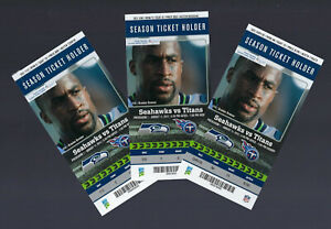 RUSSELL WILSON PS DEBUT 2012 NFL SEATTLE SEAHAWKS FULL FOOTBALL TICKET Aug 11
