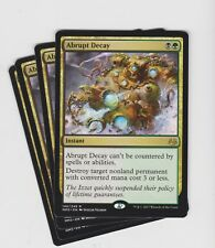 Magic the Gathering Modern Masters 2017 Abrupt Decay x4 ( play set )