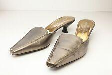 Donald J Pliner 7 Metallic Gold Women's Mule Shoe