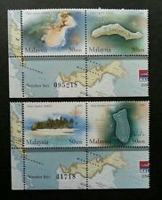 Islands And Beachs Malaysia 2003 Coral Fish Map (stamp plate MNH *emboss unusual