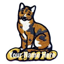 Calico Cat Custom Iron-on Patch With Name Personalized Free