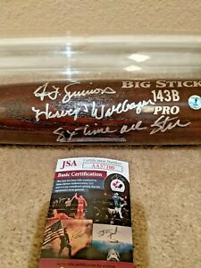 """Ted Simmons Harvey Wallbanger 8 X All Star Signed Autographed 34"""" Bat JSA W Case"""
