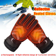 Rechargeable Battery Heated Winter Gloves Motorcycle Bike Ski Warmer Non-slip US