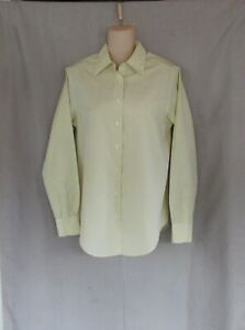 Brooks Brothers 346 top shirt Size 4 yellow blue plaid classic fit non-iron EUC