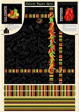 Caliente Peppers Apron Panel By Wilmington Prints-Peppers-Food-Serving