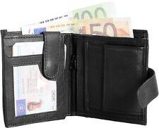 Monopol - Echtes Lammleder - 9x11 cm - Druckknopfverschluß - Herren - Geldbörse